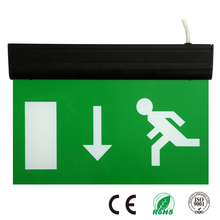 Rechargeable Battery Backup CE RoHS Dual-purpose Emergency Exit Sign