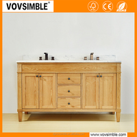 2017 new arrival European bathroom furniture with best quality and low price