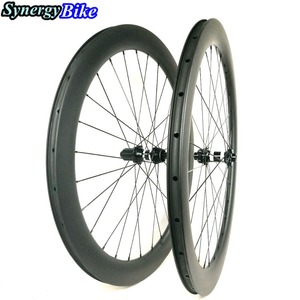 synergy bike wheels cheap bicycle disc brake road wheels 60mm carbon tubular wheels 700c road bike carbon wheelset clincher 60mm