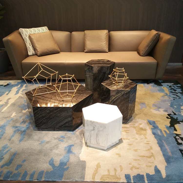 Living room small end table marble sofa side table