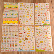 Cute 6 Sheet Cat Kitty Paper Stickers for Scrapbook Calendar Decor Skin