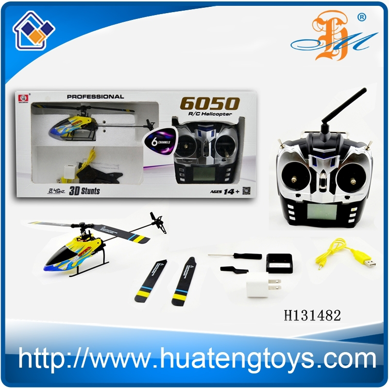 R/c fly sky toys 6 ch 2.4G alloy 3D stunts radio control helicopters on sale