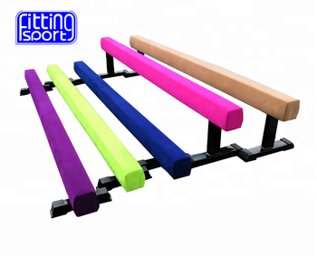 Hottest 8ft/2 5m/3m Faux Suede Cover Competition Shape Gymnastic Balance  Beam With Different Height Steel Legs For Sale - Buy Balance Beam,Gymnastic