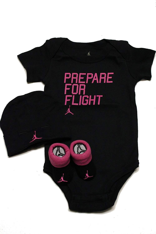 75a6d629714 Get Quotations · Jordan Air Baby 3pcs Sets Bodysuit(0-6month)