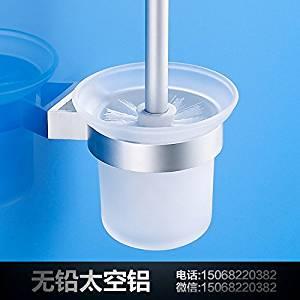 Toilet brush holder aluminum space toilet brush toilet brush set toilet toilet brush holder toilet brush belt brushes Cup Cup holder toilet brush toilet brush holder