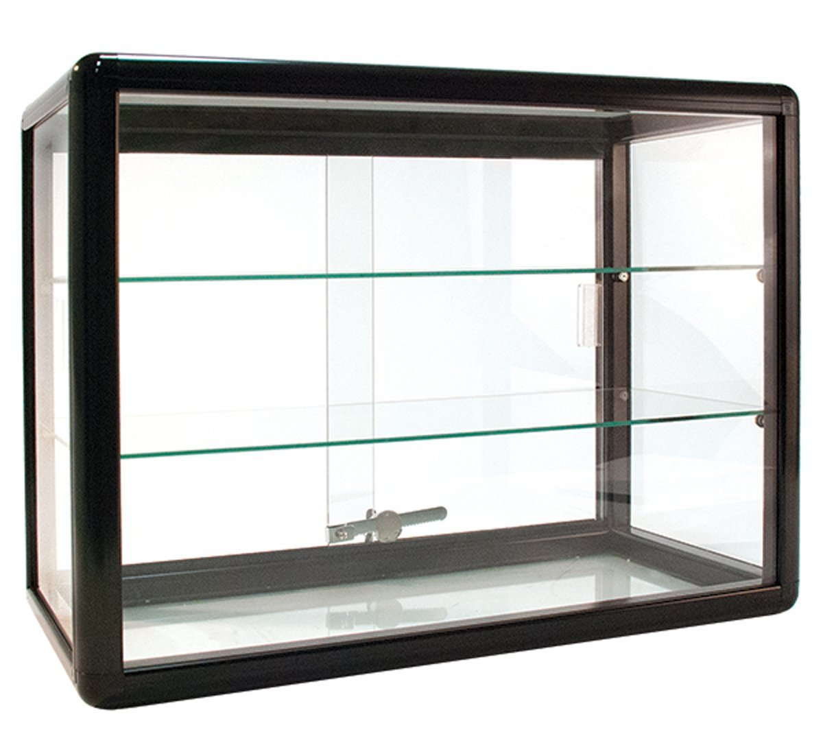 "Countertop Glass Showcase Retail Store Merchandise Display 24""Wx12""Dx18""H NEW"