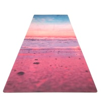 ultra thin 1mm custom printed suede rubber foldable portable travel yoga mat towel