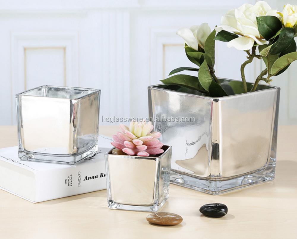 Ceramic home good decorative white black silver plated mirror ceramic home good decorative white black silver plated mirror color square glass vase reviewsmspy