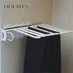 Pull Out Bearing Slide Lateral Trousers Rack Wardrobe Telescopic Suit Pants Drying Hanger With Balls