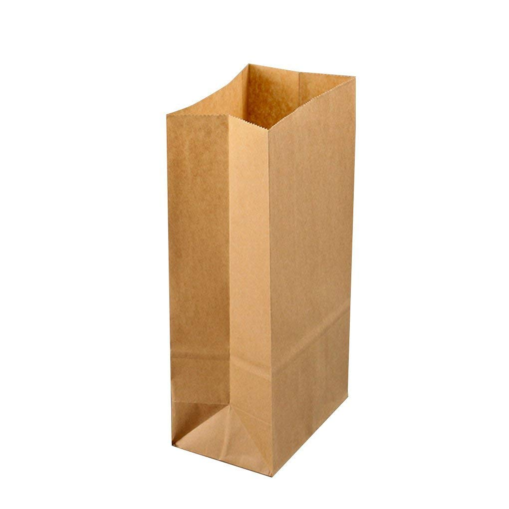Chilie 100pcs Kraft Paper Baking Oil-proof Takeaway Blank Food Packaging Bag Recyclable Jewelry Bread Shopping Party Bags