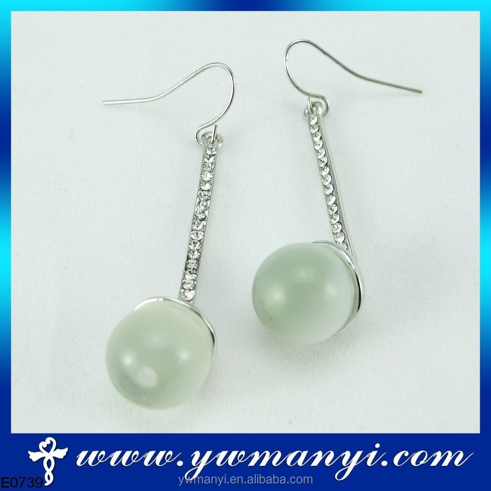 Fashion wholesale imitation custom unique silver earrings wire with the most popular