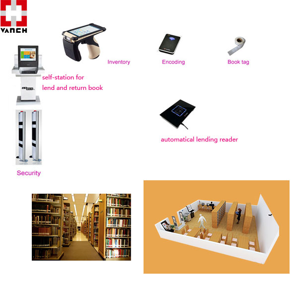 high quality uhf rfid label book tag for library with EAS function