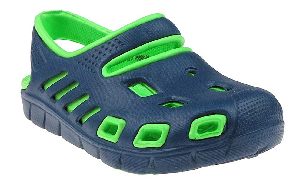 Capelli New York Toddler Boys Two tone injected EVA closed toe sandal with backstrap