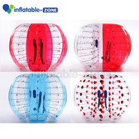 Inflatable toys bumper ball soccer bubble , human hamster ball for sale