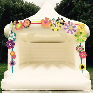 2018 new popular outdoor 5x4m commercial grade adults wedding white bounce Inflatable House Jumping Bouncy Castle For Sale