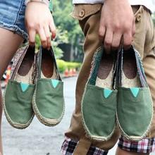 Resbalón en Holgazanes Alpargatas de Lona de Las Mujeres Zapatos de Los Planos de Suela De