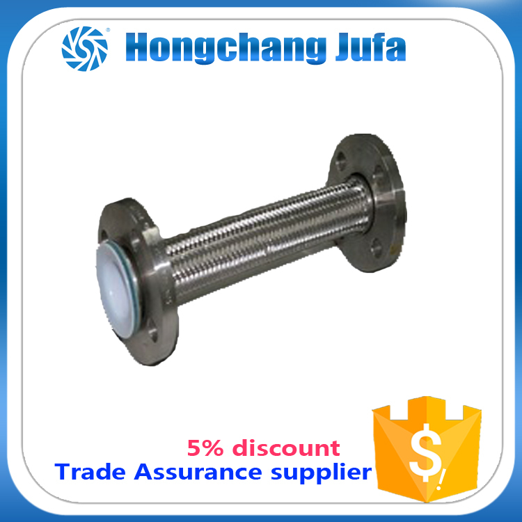 flange pipe anti-corrosion smooth s.s braided ptfe lined tube