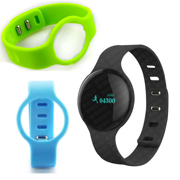 Black OLED Bluetooth Smart Healthy Bracelet Watch for Android ISO Phone