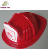 Party Novelty fire chief Fireman red plastic toy helmet hat