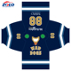 Custom Made Men's Fully Dye Sublimation Ice Hockey Jersey With Double Shoulder