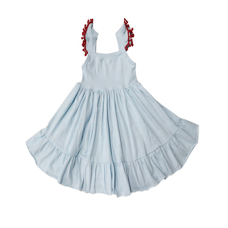 New fashion high quality baby girls solid color dress 2-10 year 2018 summer children casual wear clothing