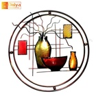 Idea Gift Abstract Metal Vase Wall Decor For Spa Hotel