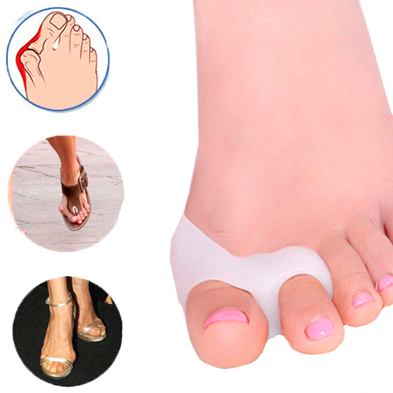 2 Pcs Pedicure Concealer For Toes Gel Pedicure Stretchers Bunion Protector Straightener Bunion Corrector Foot Care