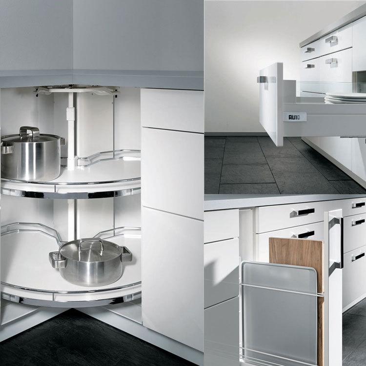 hoogglans uv mdf board grijze keuken kasten voor kleine keukens ...