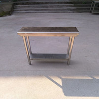factory price stainless stee 2 layers wallpaper work table