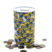 High quality metal round money saving packing tin container box Wholesale piggy bank