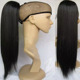 Brazilian Virgin Hair Natural color straight human hair fake hair ponytails for black women