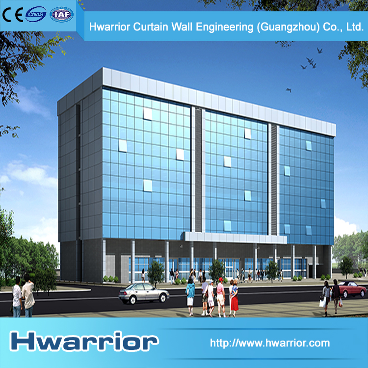 Hwarrior China Custom Thermal Insulated Glass Curtain Wall