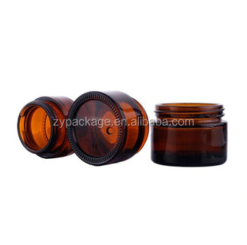 Amber Glass Jar With Black Or Gold Wadded Lid &White Caska Seal - 30ml