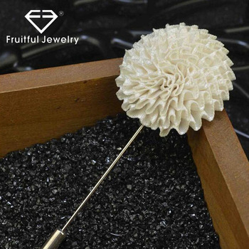 ee40c91482e New Trendy Original Hand-Made Cloth 10 Color Flower Lapel Silver Plated  Safety Pins Brooch