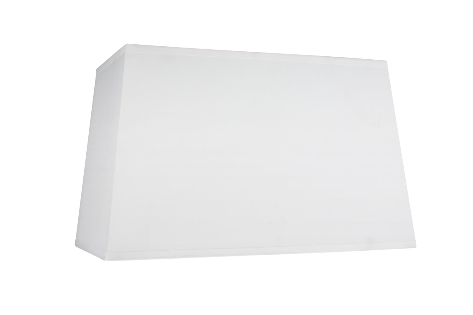 """Aspen Creative 32028 Transitional Rectangle Hardback Shape Spider Construction Lamp Shade in White, 16"""" wide, Top:(8"""" + 14"""") Bottom:(10 + 16"""") x Height: 10"""""""