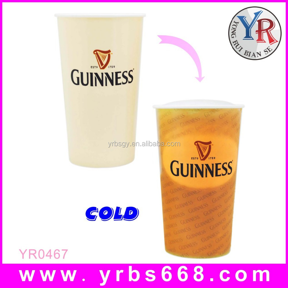 High quality ceramic novelties promotional gift magic photo coffee to go plastic mug