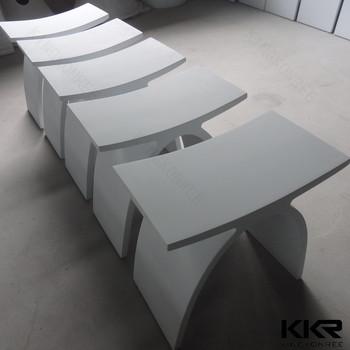 bathroom accessories solid surface acrylic bathroom vanity stool