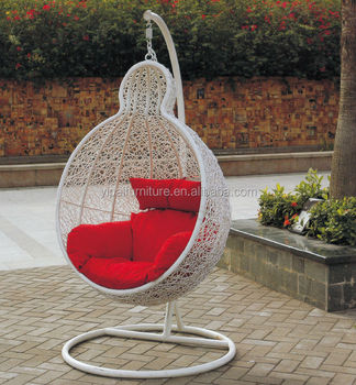 White Modern Outdoor Patio Swing Hanging Chair With Conpy For Kids