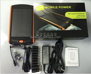 Hot selling Electronic Gift large capacity 30000mah solar laptop power bank charger