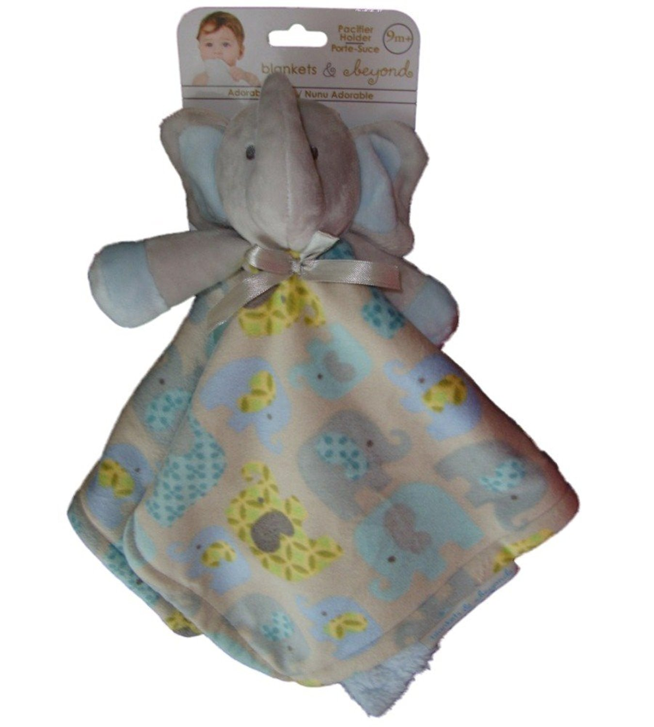 Get Quotations · Blankets   Beyond Baby Boys Blue Grey Elephant Security  Blanket Lovey 873a9eeb9