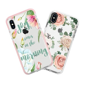 Wholesale 3D floral mobile accessories for iPhone 8 plus impact case for iPhone X xs max phone case