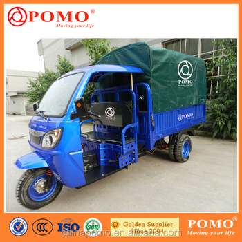 China Chongqing Port Delivery Tricycle 200CC 250CC 300CC Motorized Three Wheel Covered Motorcycle