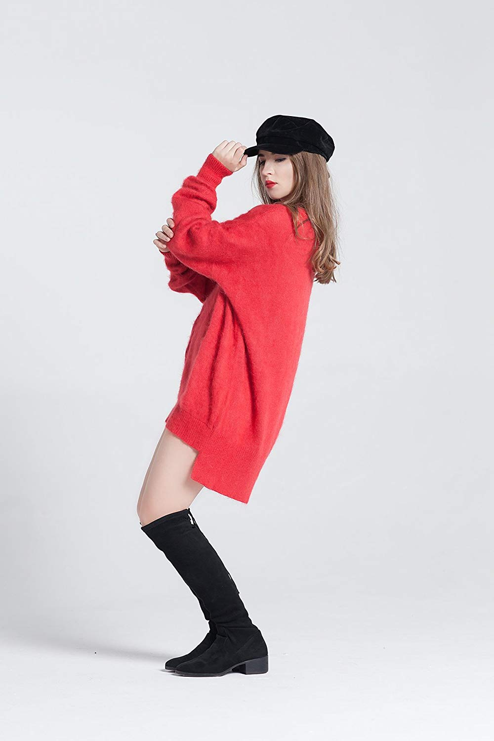 710d19aa3fc Get Quotations · Fuzzy knit pullover Red plus size knit pullover Plus size  clothing Fuzzy sweater Red Designer clothing