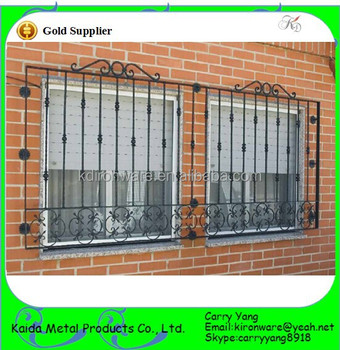 China Manufacturer Metal Modern Window Grill Designwrought Iron