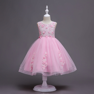 Factory wholesale fashion children girls tulle princess short sleeve frocks dress for party