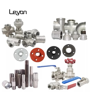 galvanized malleable cast iron pipe fittings carbon steel pipe nipple  fittings stainless steel ball valve plumbing pipe fittings