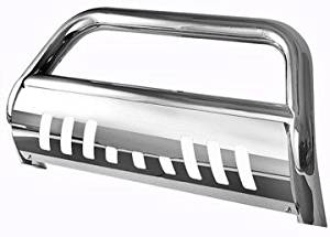 Toyota Tundra Bull Bar - Polished Stainless Steel - Fits the 2007, 2008, 2009, 2010, 2011, 2012, and 2013 Tundra