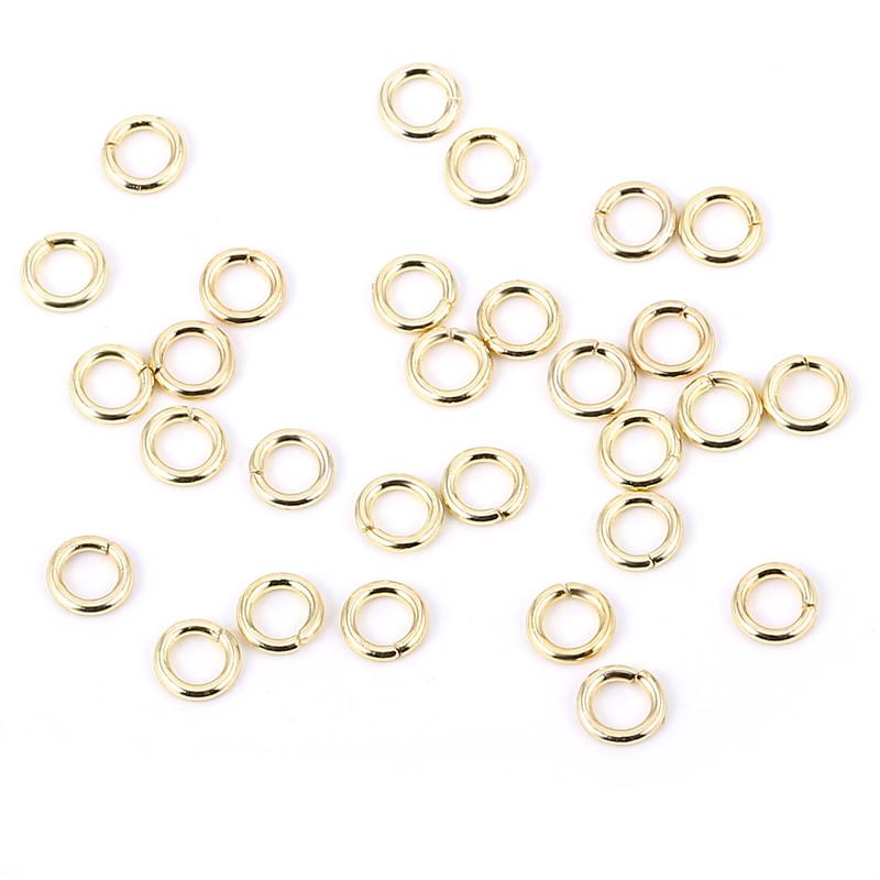 45df71b3d01d Venta al por mayor de joyería encontrar los componentes de Color oro 4mm  anillo de salto