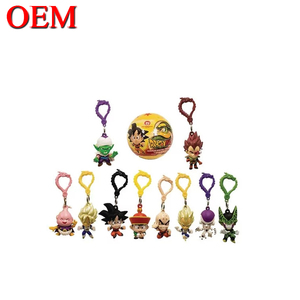 Dragon Ball Figures Plastic Keychain