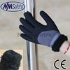 NMSAFETY heavy duty winter work gloves/sandy nitrile glove/nappy liner winter work glove
